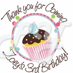 24 Sweet Treats Cupcake Personalized stickers