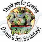 24 Teenage Mutant Ninja Turtles personalized stickers