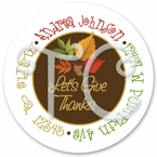 24 Thanksgiving Fall personalized sticker