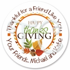 24 Thanksgiving personalized sticker
