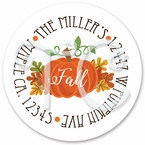 24 Thanksgiving Pumpkin personalized sticker