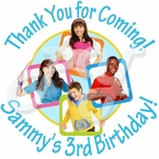 24 The Fresh Beat Band Personalized Birthday Stickers