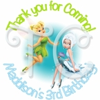 24 Tinkerbell and Periwinkle personalized birthday stickers