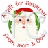 24 Santa personalized Christmas stickers