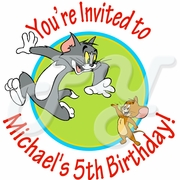 24 Tom and Jerry personalized personalized stickers