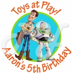 24 Toy Story personalized birthday stickers