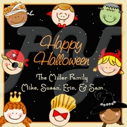 24 Trick or Treat Kids Halloween Personalized Stickers
