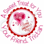 24 Valentine�s Day Personalized Gift Tags and Stickers