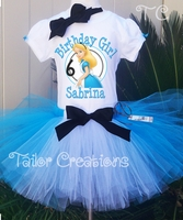 Alice in Wonderland Personalized Birthday Tutu Set