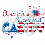 America's Sweetheart Personalized 4th of July T-shirt