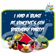 Angry Birds Space personalized Party Favor