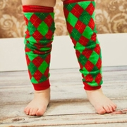 Argyle Kids Christmas Leg Warmers