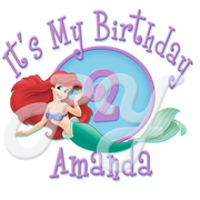 Ariel Personalized Birthday t shirt