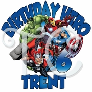 Avengers Assemble personalized birthday t shirt