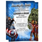 Avengers personalized Invitations