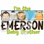 Baby Brother Safari personalized t-shirt