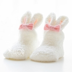 Baby Easter Rabbit Fuzzy Socks