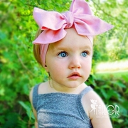 Solid Pink Bow Head wrap