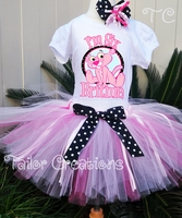 Baby Pink Panther Birthday tutu set