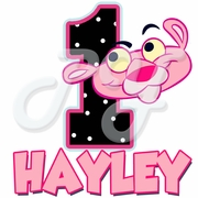 Baby Pink Panther Personalized birthday t shirt
