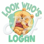 Baby Winnie the Pooh personalized birthday t shirt