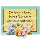 Baby Winnie the Pooh personalized party favor