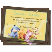Baby Winnie the Pooh personalized Thak you cards