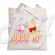 Baby Winnie the Pooh & Piglet personalized Tote Bag