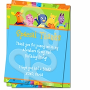 Backyardigans Personalized Thank you cards