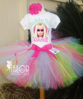 Barbie Personalized Birthday tutu Set