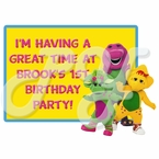Barney Personalized Party Favor