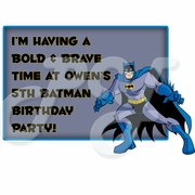 Batman Personalized Party Favor