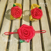 Belle Beauty and the Beast Barefoot Sandals Set