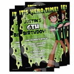 Ben 10 Omniverse Personalized Invitations