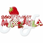 Berry Sweet Strawberry Personalized t-shirt