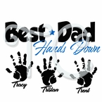 Best Dad Hands Down Personalized T shirt