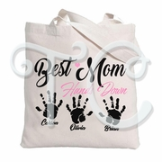 Best Mom Personalized Tote Bag