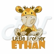 Big/Little Brother Giraffe Personalized t shirt
