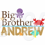 Big/Little Brother Sea Animals Personalized t shirt