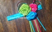 Birthday Surprise Brite Ribbon Rose Headband