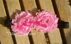 Black and Pink Shabby Chic Headband