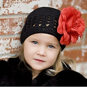 Black Crochet hat