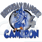 Blue Power Ranger Samurai personalized birhtday t shirt