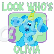 Blue's Room personalized birthday t shirt