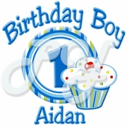 Boy's Lil Cupcake Personalized  Birthday t shirt