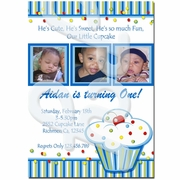 Boy's Lil Cupcake Personalized Invitations