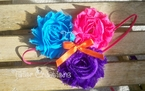 Bright Shabby Chic Flower Headband