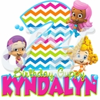Bubble Guppies Chevron personalized birthday t-shirt