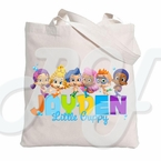 Bubble Guppies Custom Canvas Tote Bag