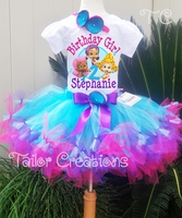 Bubble Guppies Personalized Birthday petti tutu set